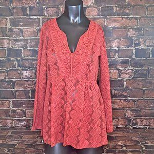 Baby Doll Style Lacy Tunic Top
